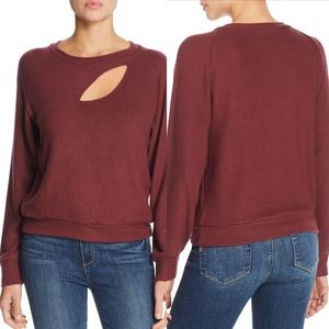 LNA Red Phase Cut Out Pullover Size Small